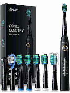 電動歯ブラシ 毎分4万振動 替えブラシ8本 急速充電 新品