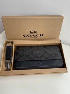 コーチ COACH 長財布 メンズ PVC ブラック 41345 小銭入れあり 新品未使用