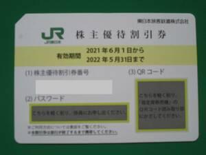 JR東日本株主優待割引券1枚+株主サービス券