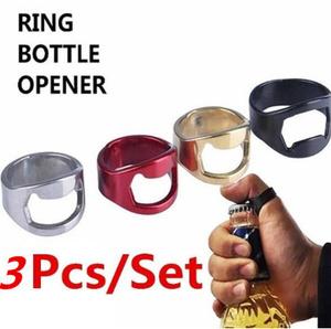 A120 3個セット ビールオープナーフィンガーリングボトルオープナー イージーハンドフィンガー リングオープンバー 栓抜き