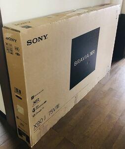 【箱のみです。】SONY XRJ-75X90J BRAVIA 75V型 液晶 テレビ ソニー 輸送用元箱 すべての備品あり KJ-75X9500Hにも使えます
