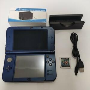 Newニンテンドー3DS LL メタリックブルー 任天堂 充電器 ソフト付 MHX