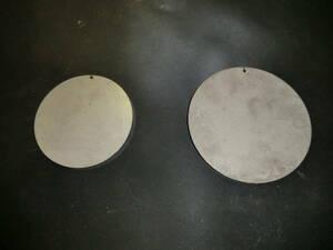 ステンレス304 NO1 約6mm厚 円板 約Φ89.2mm(直径) 1枚、6mm Φ110.2mm 1枚 計2枚