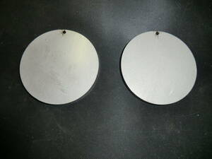 ステンレス304 NO1 約6mm厚 円板 約Φ69.2mm(直径) 2枚