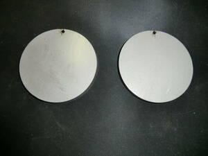 ステンレス304 NO1 約6mm厚 円板 約Φ99.2mm(直径) 2枚