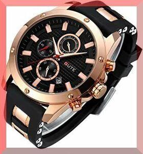 新品ブラウン STONE メンズ 腕時計 クォーツ 多機能 ウォッチ シンプル 男性 時計 クロノグラフ 日付表示LVI2B