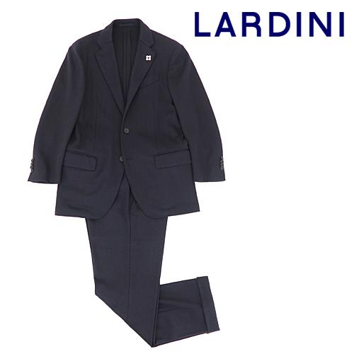 LARDINI ラルディーニ パッカブルスーツ 46サイズ ネイビーブラウンストライプ ストレッチウール 3B 秋冬春 美品 1円スタート