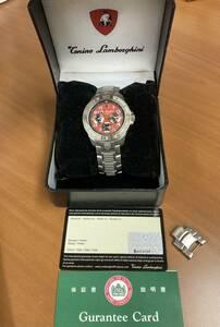 1円スタート 2000個限定 トニーノランボルギーニ CG212M クオーツ 腕時計 オレンジ