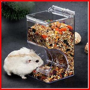 Hitasi ハムスター餌やりハムスター けーじ 掛ける小動物用自動給餌 小鳥用食器 ハリネズミ エサ入れ お留守番対策 固定 自動給餌器