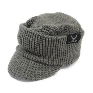 アヴィレックス AVIREX シングル OSLO ニットキャップ クラカーボ糸 グレー Wワッチ 新品 メンズ レディース 超暖 ニット帽