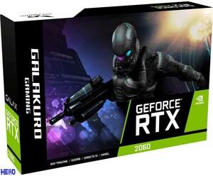 玄人志向 NVIDIA GeForce RTX2060搭載 グラフィックボード GDDR6 6GB GALAKURO GAMINGシリーズ GG-RTX2060-E6GB/DF2