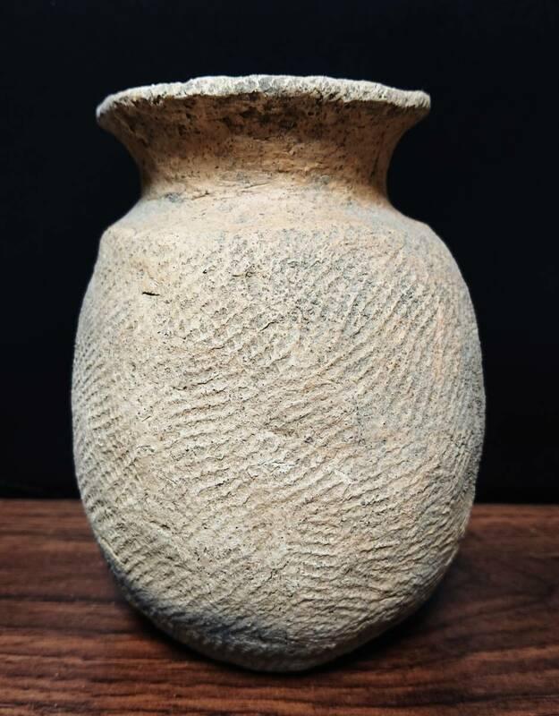 八戸是川(青森県)出土 縄文壺型土器 ほぼ完器