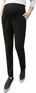 ブラック L MONFUTUR(モンフチュール) パンツ 妊婦用 ソフト ストレッチ タイプ