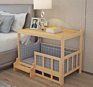 ペットベッド 木製 猫ハウス キャットハウス 組み立て簡単 通気 防潮 丈夫
