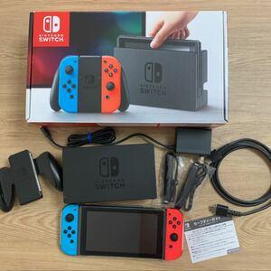Nintendo Switch ネオンブルー ネオンレッド 任天堂 液晶保護フィルム、カバー付き ニンテンドースイッチ本体