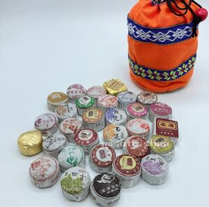 中国雲南 プーアル茶小沱茶各種 30個入り 布製袋付き