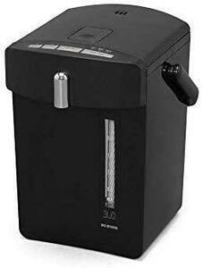 アイリスオーヤマ マイコン電気ポット 3.0L ブラック IAHD-030-B