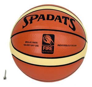 バスケットボール 7号 空気針付き 人工皮革 白ライン■sports_euipment