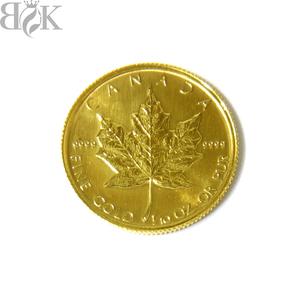 美品 K24 カナダ メイプルリーフコイン 金貨 エリザベス二世 5ドル 1983 1/10oz 総重量約3.1g 資産価値 〓