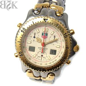 タグホイヤー CG1123-0 セル セナモデル プロフェッショナル200m クロノ メンズ 腕時計 クォーツ アイボリー文字盤 動作品 TAG HEUER 〓