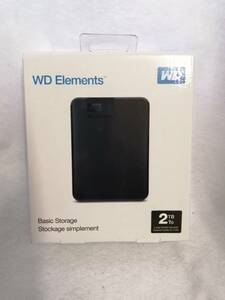 送料無料 WD Elements ポータブルHDD 2TB 新品未開封