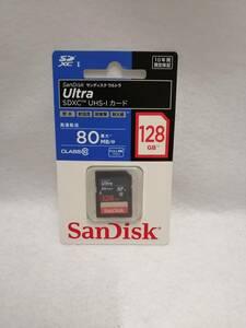 新品未開封 Sandisk Ultra 128GB SDXC UHS-Iカード SDSUNC-128G-J01 国内正規品 サンディスク ウルトラ