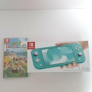 Nintendo Switch Lite ニンテンドースイッチライト ターコイズ+あつまれどうぶつの森セット