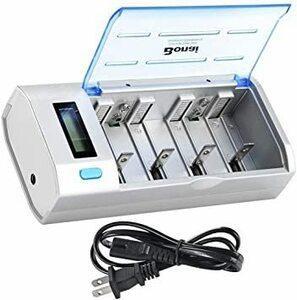 新品BONAI 急速 電池充電器 単一 単二 単三 単四9Vに対応 ニッケル水素・ニカド充電池 専用LCD充電器 液NJFP
