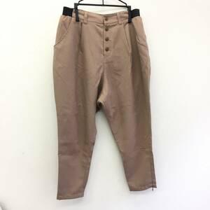 洋服 パンツ ズボン サイズ:F E hyphen world gallery イーハイフン ワールド ギャラリー 濃いベージュ色系 女性 レディースファッション