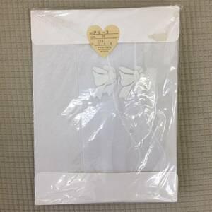ストッキング 未使用 INDEM Mサイズ カラー:ホワイト(11) no.ps-2 k-tk711 リボン柄 白