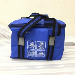 保冷バッグ ランチバッグ お弁当箱入れ 乗り物 青 ブルー バック