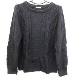 洋服 Shelney アクリルニット セーター ネイビー サイズ:L しまむら レディースファッション 中古