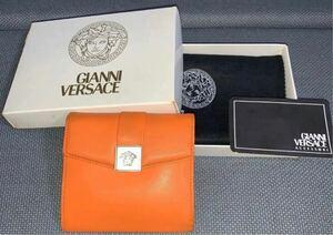 ジャンニヴェルサーチ オレンジ 折財布
