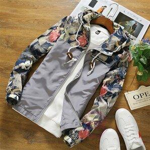数量限定ジャケット メンズ ジップパーカー 花柄 ウィンドブレーカー ジャケット メンズ ジップパーカー 花柄 ウィンドブレーカー おし