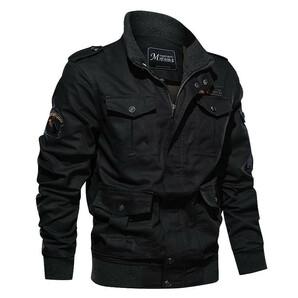 最高級ミリタリージャケット 無地 多ポケット 機能性 作業服 ミリタリージャケット メンズ 無地 多ポケット 機能性 作業服 ワークジャケ
