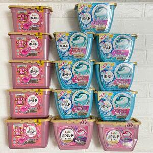 洗濯洗剤 ボールド ジェルボール 3種類 18個入り×14箱 柔軟剤 部屋干し