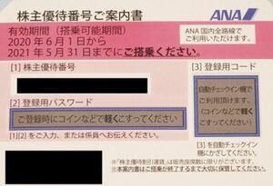 『ANA株主優待券(2021年11月30日迄有効)』
