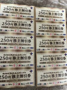 ヴィア・ホールディングス 株主優待券2500円分(期限:2022年6月30日)送料無料