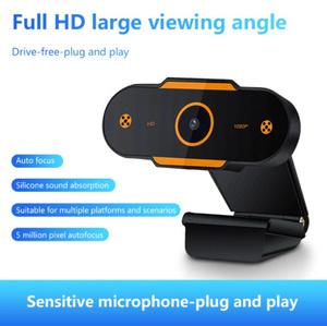 ウェブカメラ 500万ピクセル USB2.0オートフォーカス ウェブカメラマイク付き コンピューター用PCラップトップ ライブビデオ通話用