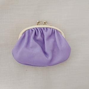 美品です ラベンダー パープル イタリア製 がま口財布A.R.Florence A.R.フローレンス がま口 親子がま口 ミニポーチ カードケース ミニ財布