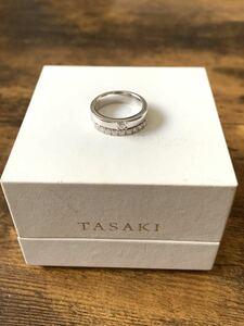 美品 TASAKI タサキ 田崎真珠 ダイヤモンドリング K18WG ダイヤ0.46ct 11号 750