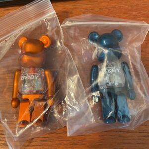 ベアブリック 2つセット MY FIRST BE@RBRICK BABY Pearl Orange Ver. Navy ネイビーオレンジ 千秋 Project 1/6 ノベルティ 100%