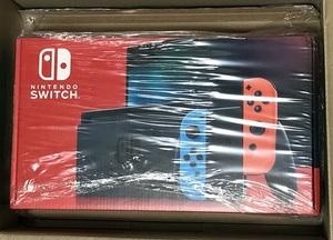 未開封 未使用品「Nintendo Switch 本体 (ニンテンドースイッチ) Joy-Con(L) ネオンブルー/(R) ネオンレッド / 任天堂」