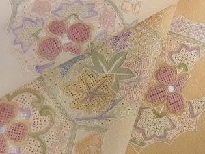 着物屋こころ■訪問着 中国三大刺繍 汕頭刺繍 スワトウ刺繍 吉祥割付き花文 暈し染め 正絹 逸品 di3703