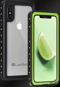 薄型完全防水ケース iPhone X / XS 5.8インチ IP68防水 防塵 耐衝撃 米軍規格 ワイヤレス充電 360度全面保護 お風呂で使用可能 グリーン