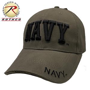 ROTHCO新品即決 立体 ロゴ ベースボール キャップ (NAVY-DX オリーブ) 迷彩 プロファイルキャップ 目深 深め CAP 帽子 フリーサイズ メンズ