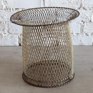 アンティークSALE33%OFF ゴミ箱 ダストボックス ワイヤー 鉢 花瓶 雑貨 店舗什器 インダストリアル ヴィンテージ アンティーク