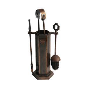 アンティークSALE42%OFF ファイヤーツール ジャパンカラー 暖炉 アンティーク japanned ジャパンフィニッシュ 1930年代 インダストリアル