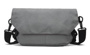 ショルダーバッグ メンズ ワンショルダー バッグ 斜めがけ 帆布 小さめ カバン (グレー)