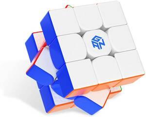 GAN11 M 3x3 磁気スピードキューブ,ステッカーレス つや消し(frost)(内部原色)